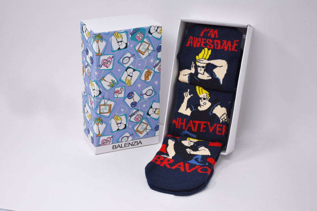 Johnny Bravo Men/Women Low Cut Socks by Balenzia (Navy)- Pack of 3 - Balenzia