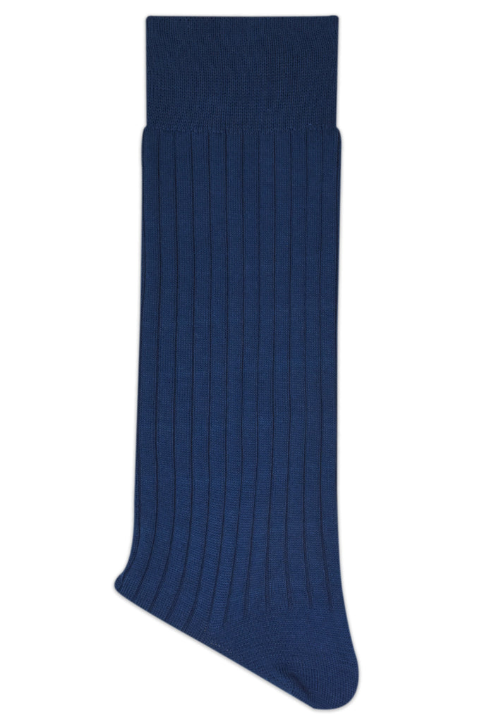 Balenzia Premium Mercerised Crew Rib Socks For Men- Pack Of 1 (Navy) - Balenzia