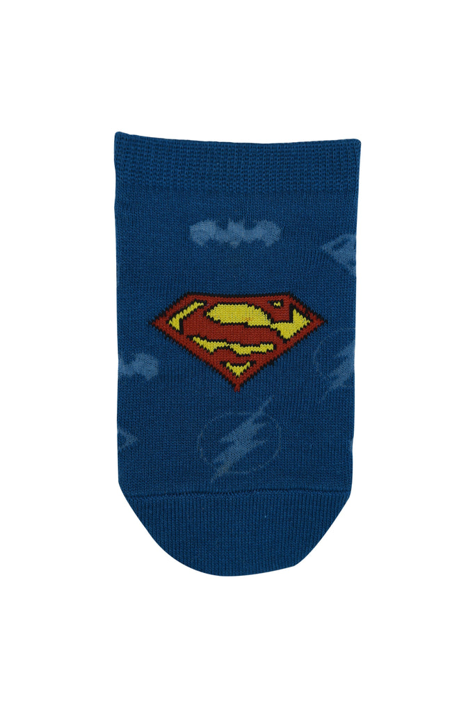 Justice League By Balenzia Low Cut Socks for Kids (Pack of 3) - Balenzia