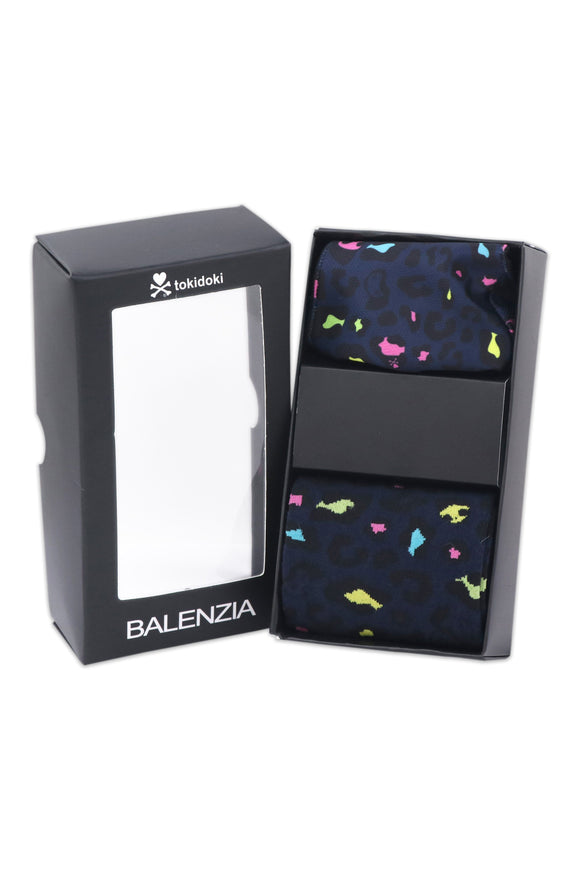 Balenzia X tokidoki Matching Mask and Crew Socks Gift Box for Men - Leo Navy - Balenzia