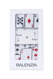 Balenzia Special Edition Poker Him & Her Gift Box (Pack of 2)(White) - Balenzia