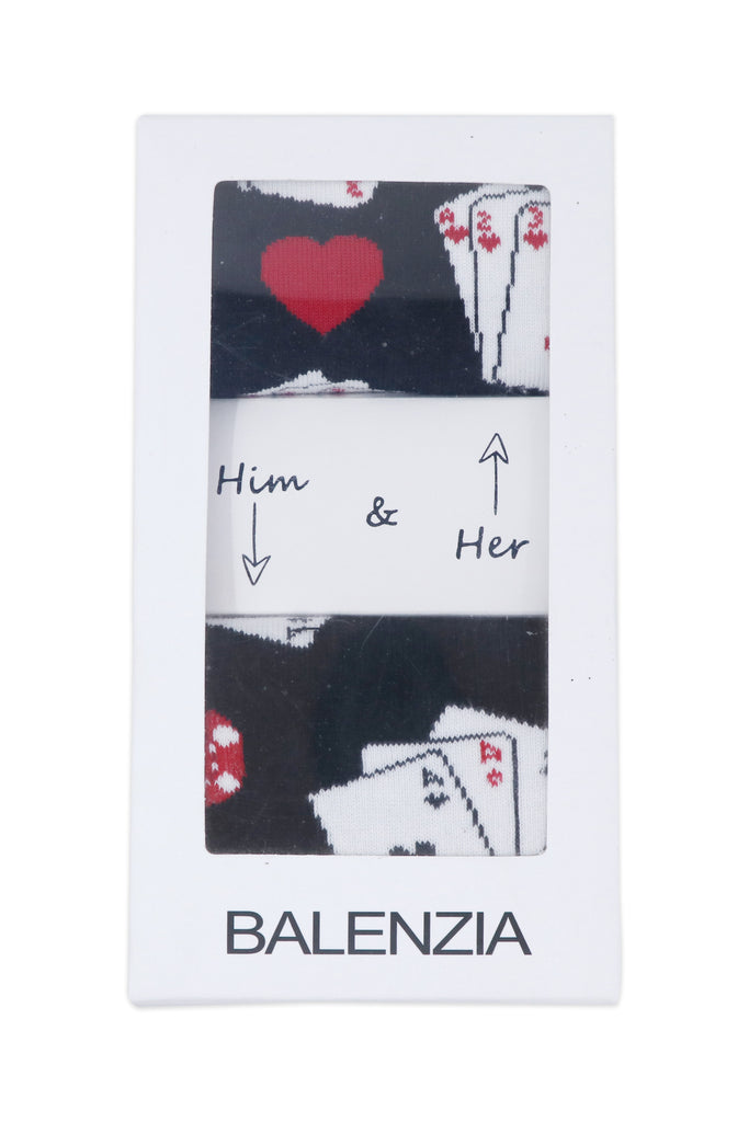 Balenzia Special Edition Poker Him & Her Gift Box (Pack of 2)(Black,White) - Balenzia