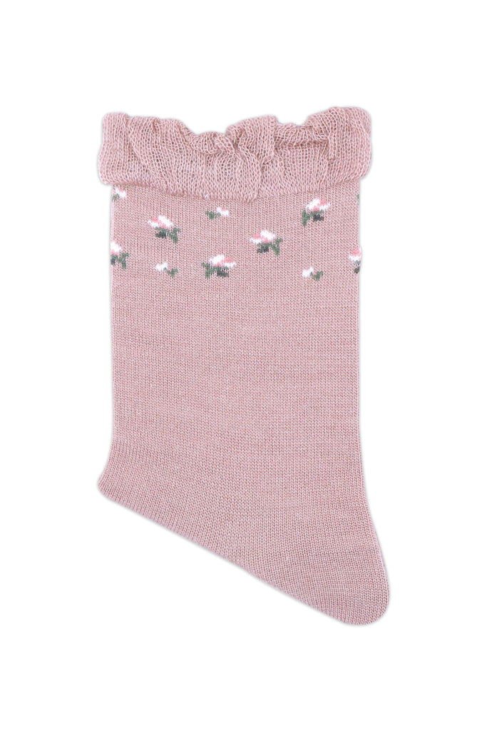 Balenzia Women's Floral design Woolen high ankle Socks- Blue,Pink,Purple-Pack of 3 - Balenzia