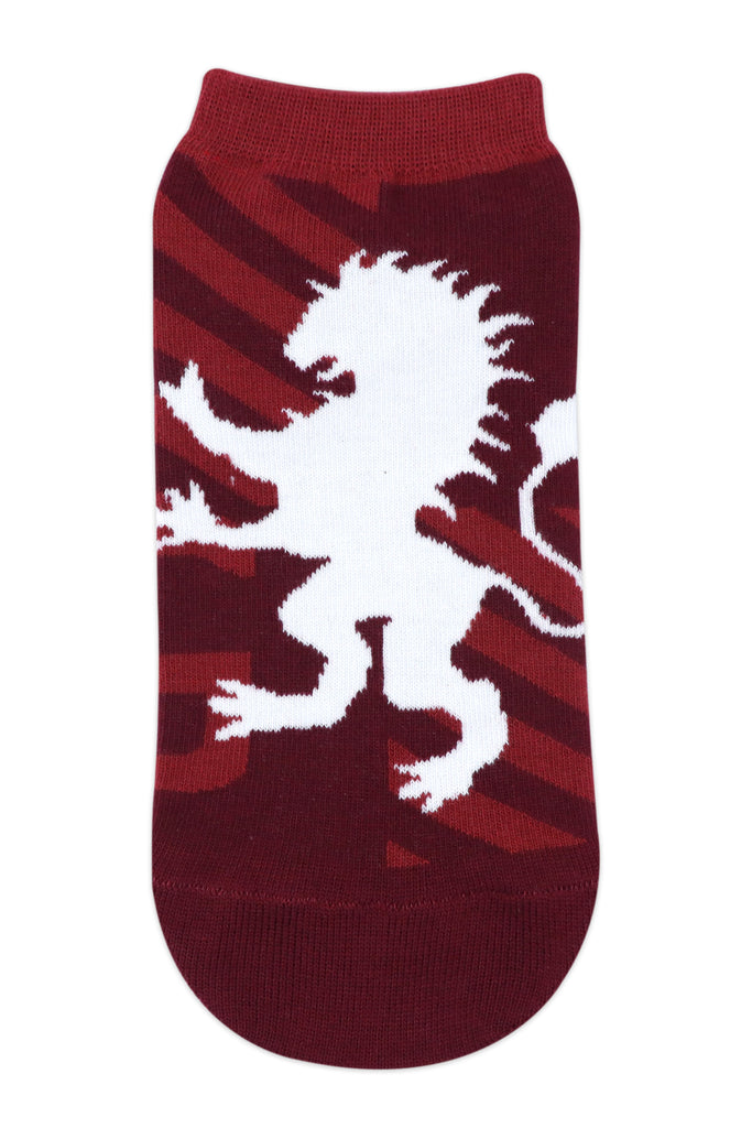 Balenzia x Harry Potter Gryffindor Crest & Logo lowcut Socks for men (Pack of 2)- Maroon - Balenzia