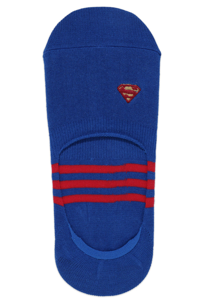 Justice League Men's Cotton Loafer Socks with Anti Slip Silicon - Superman, Batman, Flash - Pack of 3- No Show / Invisible Socks - Balenzia