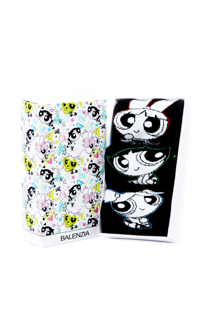 Powerpuff Girls Women Cushioned Crew Socks by Balenzia -Pack of 3 - Balenzia