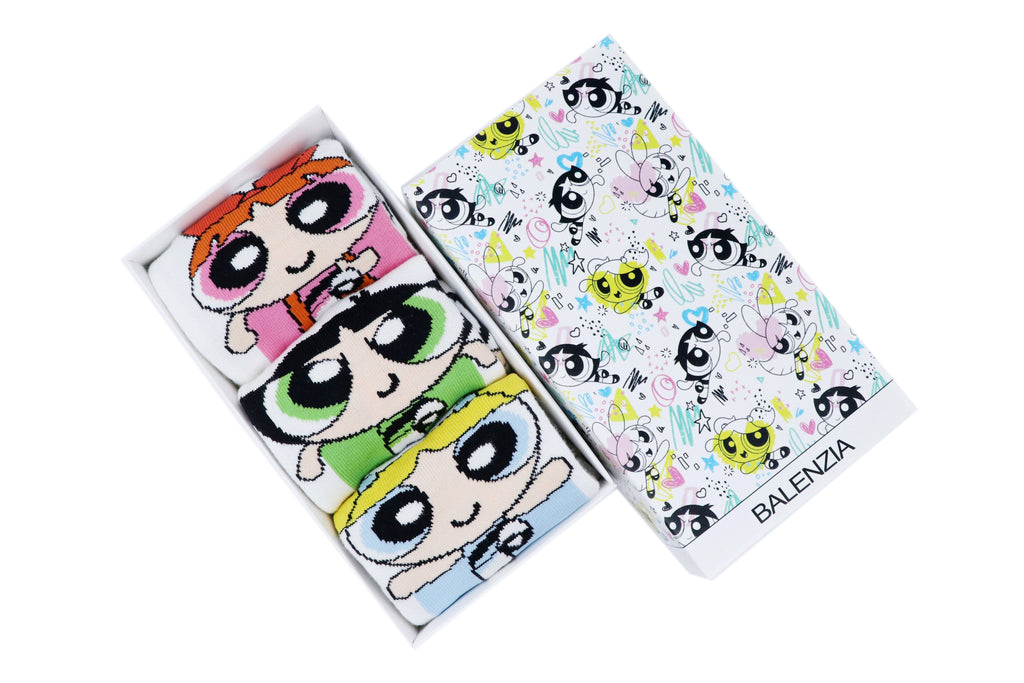 Powerpuff Girls Women Cushioned Low Cut Socks by Balenzia -Pack of 3 - Balenzia