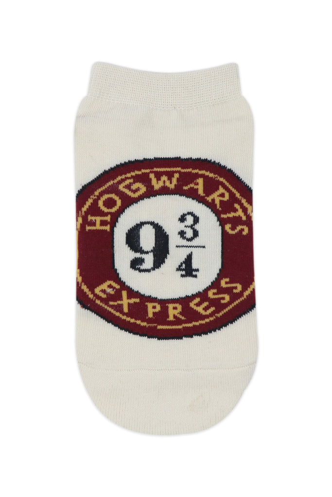 Balenzia x Harry Potter Hogwarts Crest & Hogwarts Express lowcut Socks for Women (Pack of 2)- Cream - Balenzia