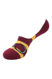 Balenzia x Harry Potter Lightning Bolt & Glasses & Platform 9 3/4 No Show Socks for Women (Pack of 2)- Yellow & Maroon - Balenzia