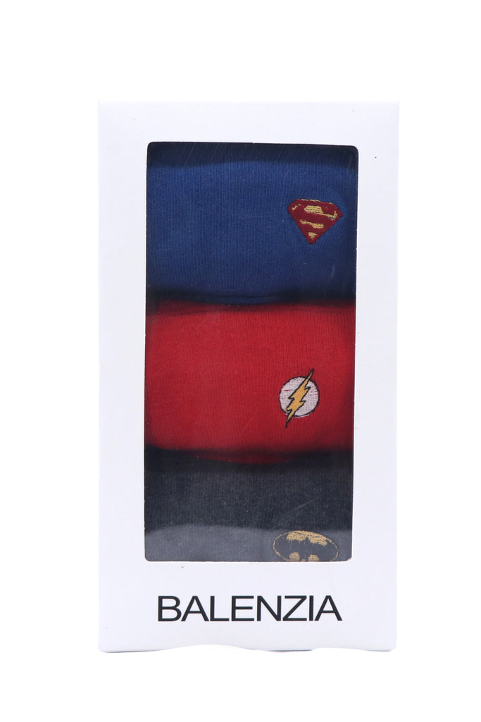 Justice League Gift Pack for Men-Superman, Batman, Flash-Loafer/Invisible Socks - Balenzia