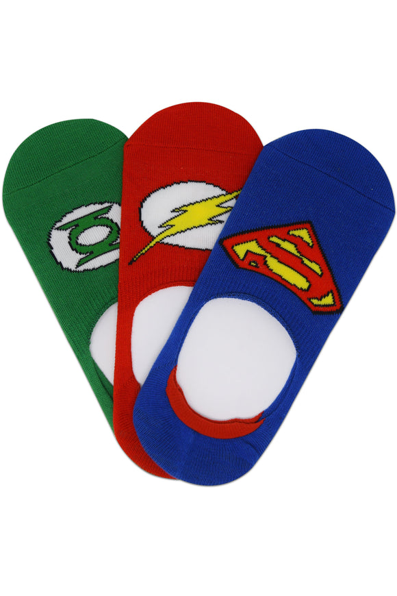 Justice League By Balenzia Loafer Socks for Kids (Pack of 3)(9-12 Years) - Balenzia