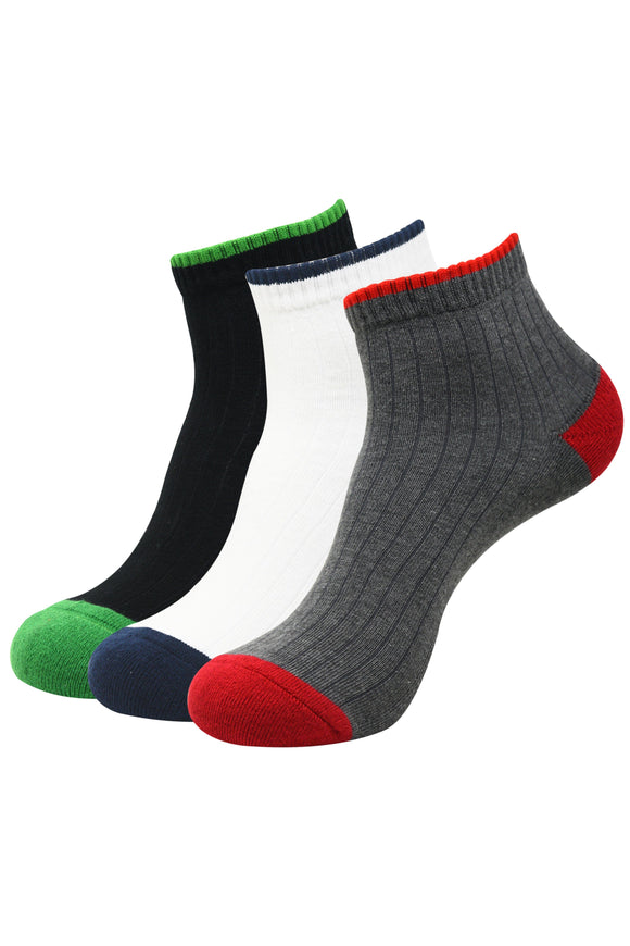 Balenzia High Ankle Socks for Men (Pack of 3)- Sports Socks - Balenzia