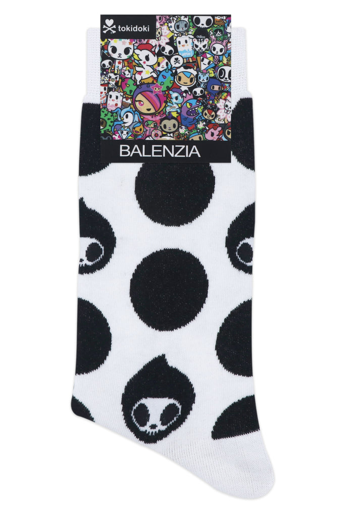 Balenzia x Tokidoki Adios Crew Length socks for Men (Pack of 2)- White,Black - Balenzia