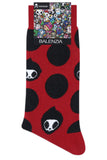 Balenzia x Tokidoki Adios Crew Length socks for Men (Pack of 2)- White,Red - Balenzia