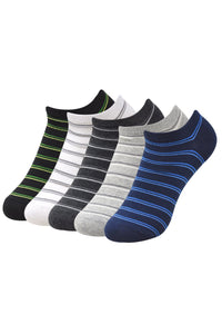 Balenzia Men' s Striped Low Cut Socks-5 Pair Pack - Balenzia