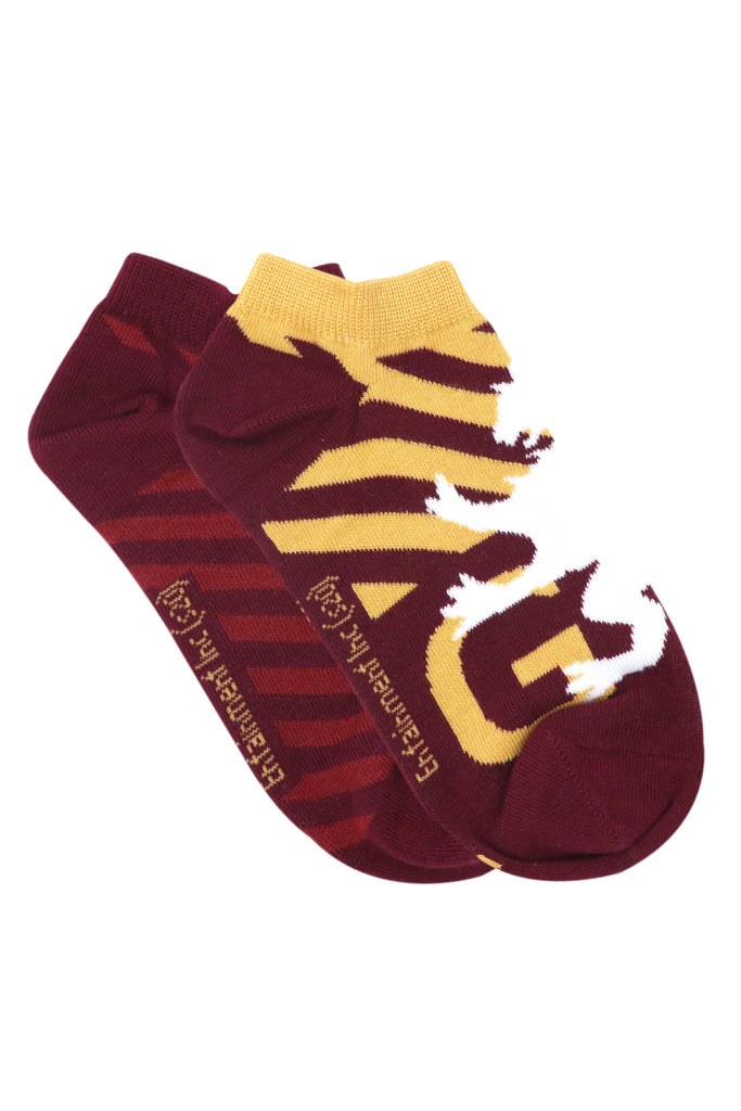 Balenzia x Harry Potter Gryffindor Crest & Logo lowcut Socks for Women (Pack of 2)- Maroon - Balenzia