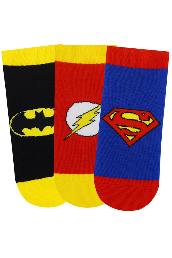 Justice League By Balenzia Low Cut Socks for Kids (Pack of 3)(13-15 Years) - Balenzia