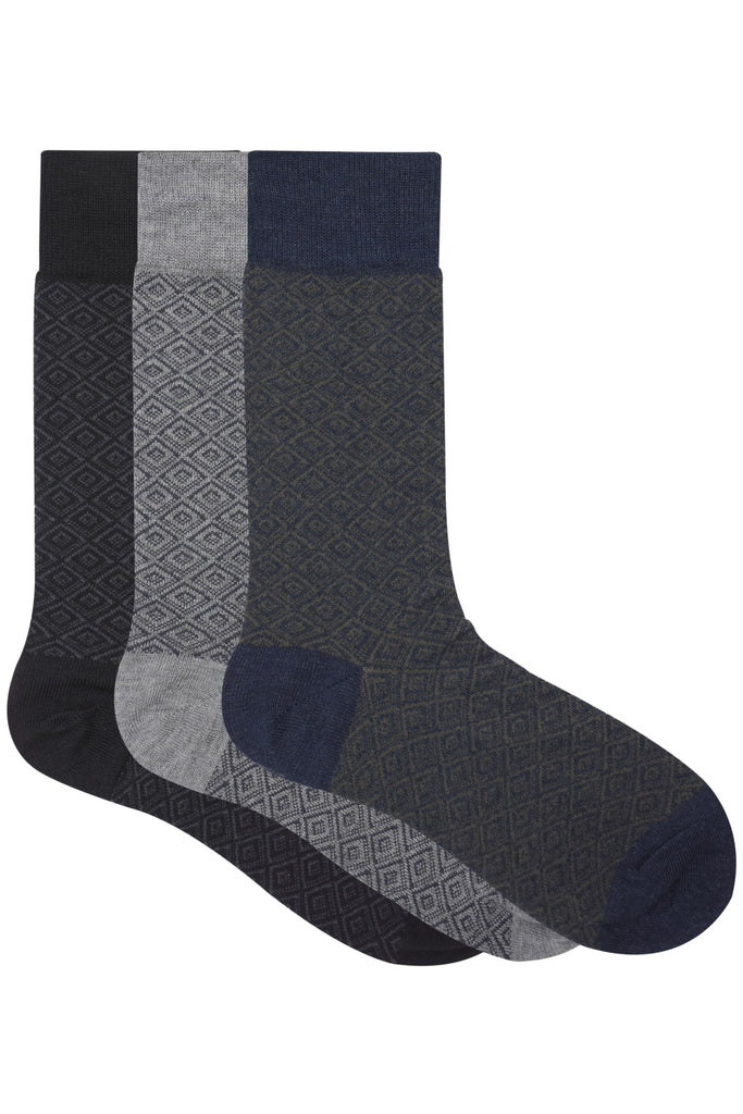 Balenzia Men's Modal Crew Length Socks (Pack of 3) - Balenzia
