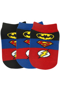 Justice League By Balenzia Low Cut Socks for Kids (Pack of 3)(2-4 Years) - Balenzia