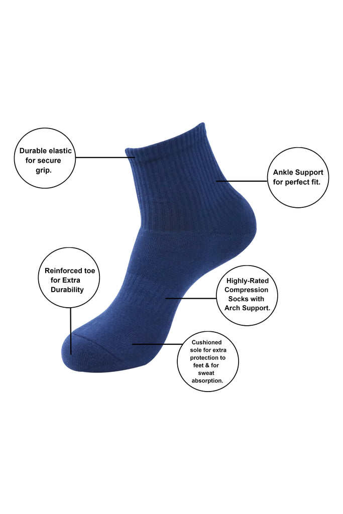 [Men's Loafer Socks with Anti Slip Silicon- No Show/ Invisible/ Liner Socks] - Balenzia