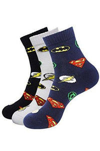 Justice League By Balenzia High Ankle Socks For Men (Pack Of 3) - Balenzia