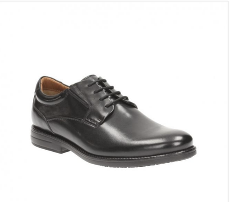 Clarks 26119293 Hopton Walk Black Leather Мужская обувь