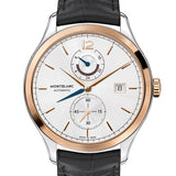 Mont Blanc Heritage Chronometrie Leather Dual Time Automatic Watch 112541 для Мужчин - наручные часы