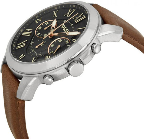 Fossil Grant Watch for Men - Analog Leather Band - FS4813