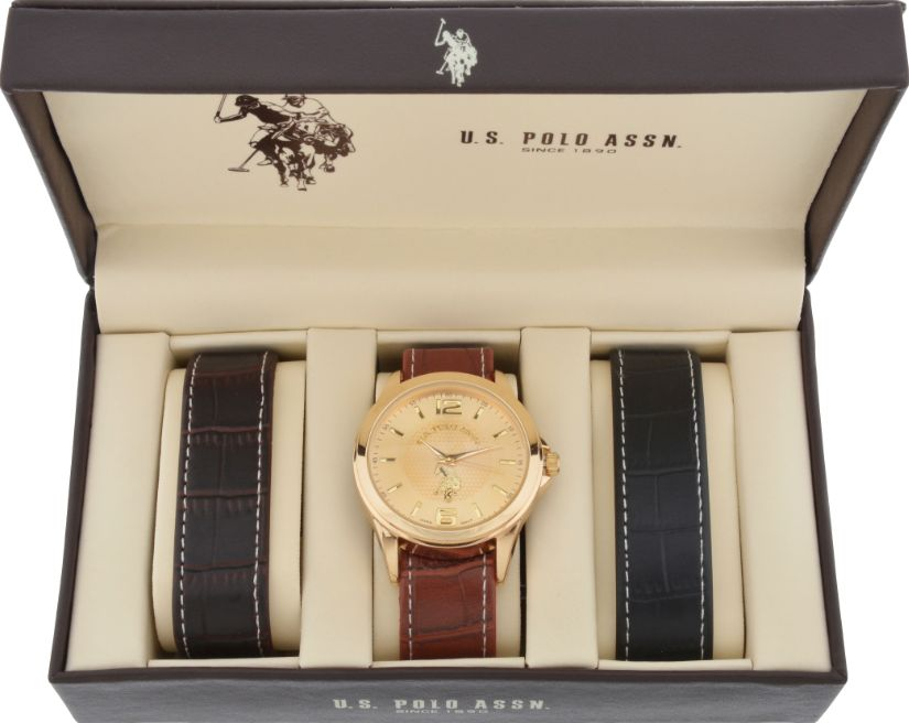US Polo Assn. Watch Set With Two Interchangeable Straps Analog Set USP-103 для Мужчин - наручные часы
