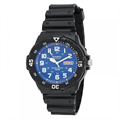 Casio Men's Blue Dial Resin Band Watch - MRW-200H-2B2