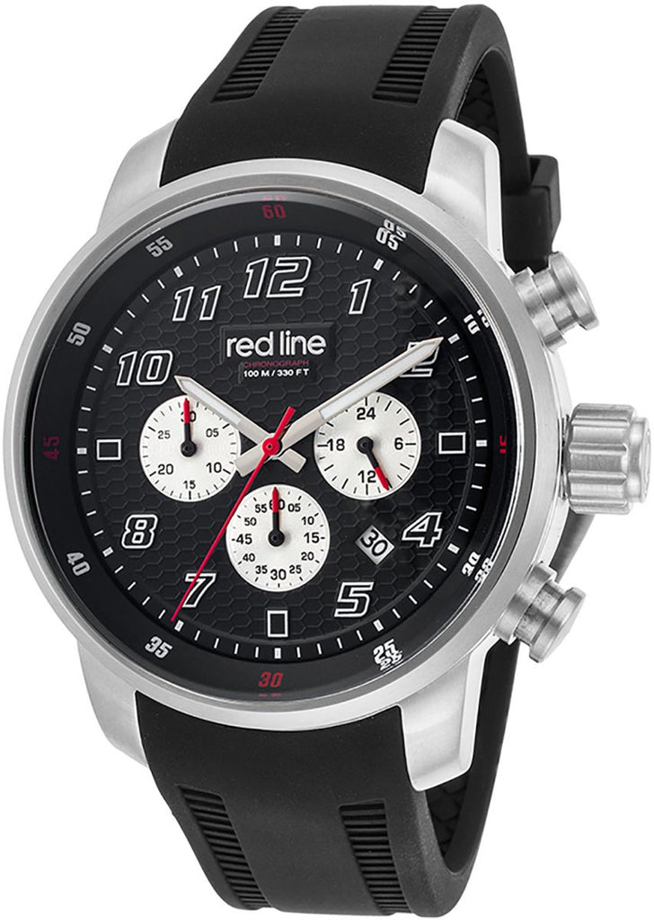 Red Line Black Dial Silicone Band Watch RDL303C01 для Мужчин - наручные часы