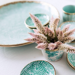 Faintly Fern Small Platter - Mint