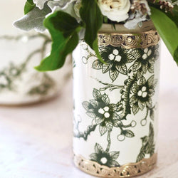 Vintage Bird Canister in Olive