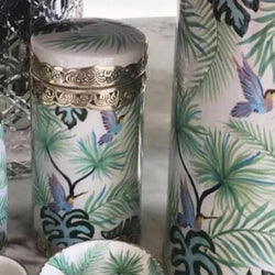 Botanical Bird Canister