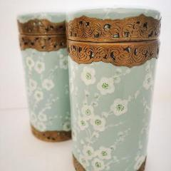 Japanese Blossom Canister in Powder Blue