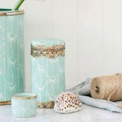 Mint Bamboo Canister