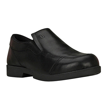 Boy School Slip On - Black