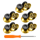 10 pcs Rubberized Chrome Thumbsticks Analog Sticks Buttons Replacement Parts for Xbox One Xbox One Elite Xbox One X Xbox One S Controller (Chrome Gold) - XBHK0001GC