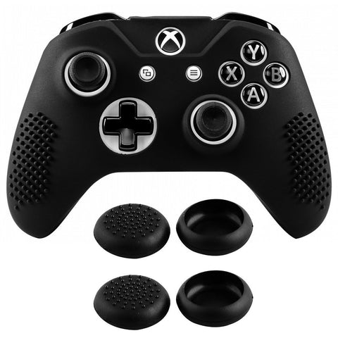 Soft Silicone Controller Cover Thumb Stick  Caps for Xbox One S for Xbox One X Black-XBOWP0001GC