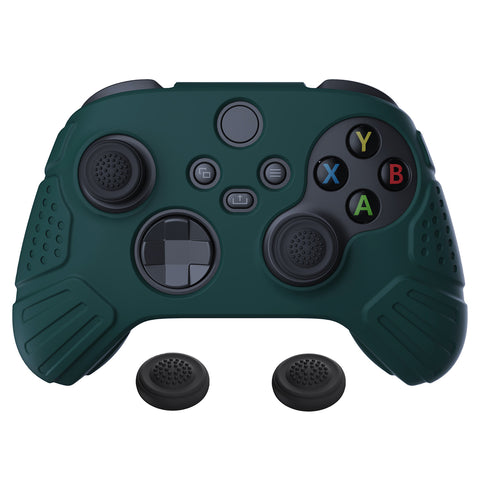 Guardian Edition Racing Green Ergonomic Soft Anti-slip Controller Silicone Case Cover, Rubber Protector Skins with Black Joystick Caps for Xbox Series S and Xbox Series X Controller - HCX3004