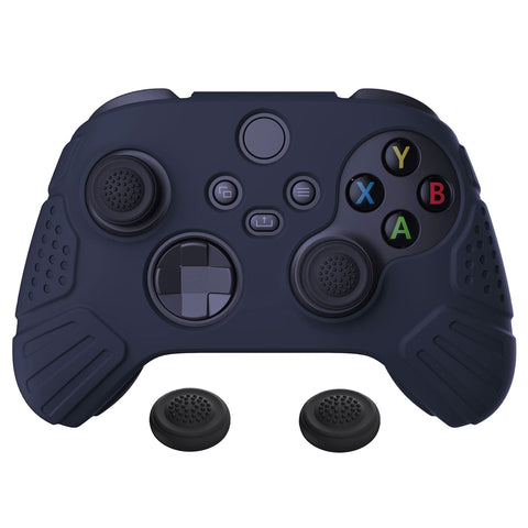 Guardian Edition Midnight Blue Ergonomic Soft Anti-slip Controller Silicone Case Cover, Rubber Protector Skins with Black Joystick Caps for Xbox Series S and Xbox Series X Controller - HCX3003