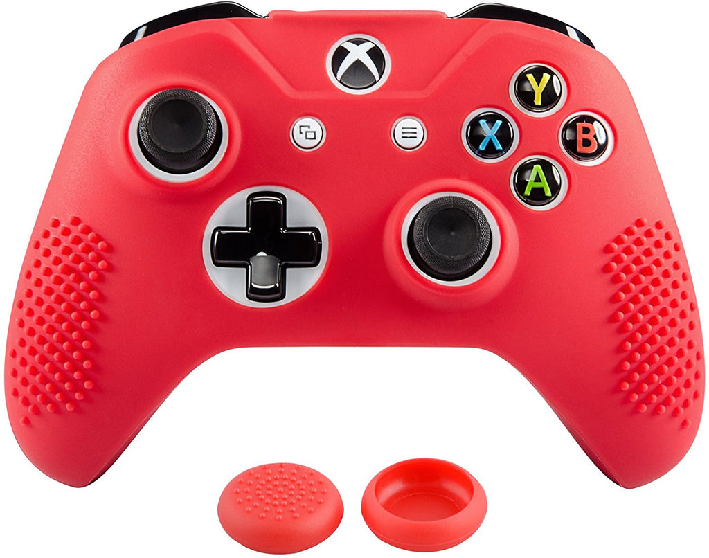 soft red silicone controller cover grips caps protective case for xbox  u2013 gamingcobra