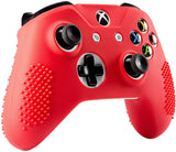 Soft Red Silicone Controller Cover Grips Caps Protective Case for Xbox One S for Xbox One X -XBOWP0039GC