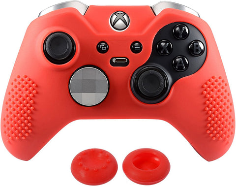 Red Game Rubber Gel Cover Thumb Grip for Xbox One Elite Controller-XBOWP0036GC