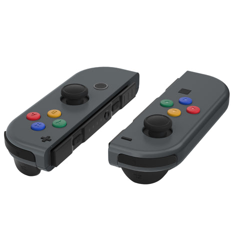 Replacement DIY Colorful ABXY Buttons Directions Keys Repair Kits with Tools for Nintendo Switch Joy-Con JoyCon Shell NOT Included - AJ109