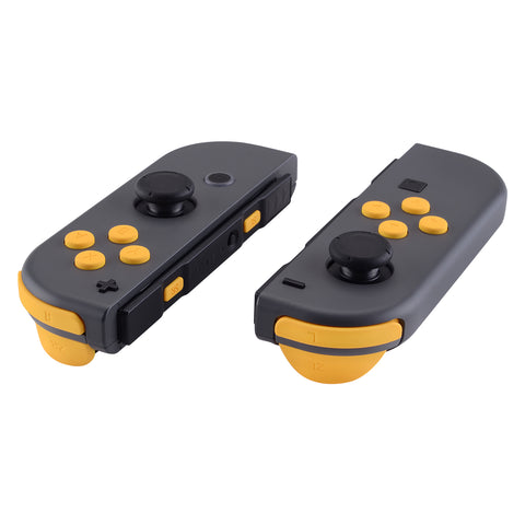 Caution Yellow Soft Touch Replacement ABXY Direction Keys SR SL L R ZR ZL Trigger Buttons Springs, Full Set Buttons Repair Kits with Tools for Nintendo Switch Joy-Con JoyCon Shell NOT Included- AJ205