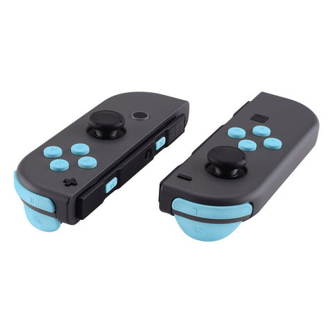 Heaven Blue Soft Touch Replacement ABXY Direction Keys SR SL L R ZR ZL Trigger Buttons Springs, Full Set Buttons Repair Kits with Tools for Nintendo Switch Joy-Con JoyCon Shell NOT Included- AJ207