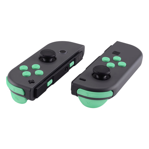 Mint Green Soft Touch Replacement ABXY Direction Keys SR SL L R ZR ZL Trigger Buttons Springs, Full Set Buttons Repair Kits with Tools for Nintendo Switch Joy-Con JoyCon Shell NOT Included- AJ208