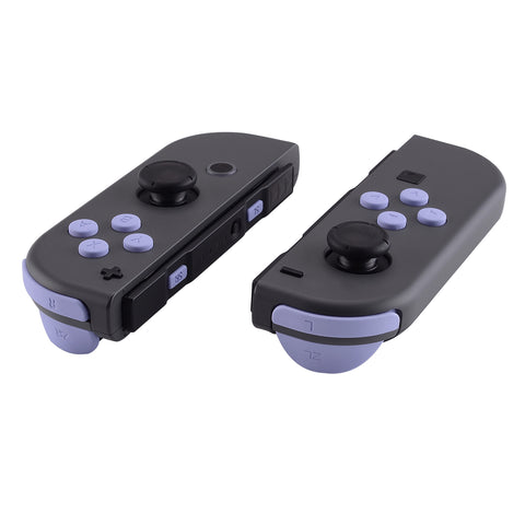 Light Violet Replacement ABXY Direction Keys SR SL L R ZR ZL Trigger Buttons Springs, Full Set Buttons Repair Kits with Tools for Nintendo Switch Joy-Con -JoyCon Shell NOT Included  - AJ209