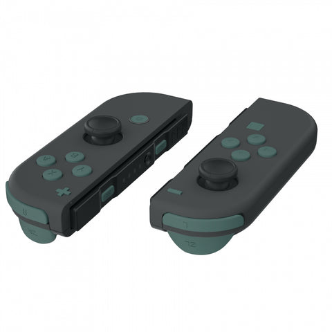 Soft Touch Pine Green Replacement ABXY Direction Keys SR SL L R ZR ZL Trigger Buttons Springs, Full Set Buttons Repair Kits with Tools for Nintendo Switch Joy-Con JoyCon Shell NOT Included - AJ218